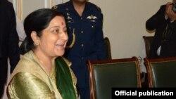 La ministre indienne des Affaires étrangères, Sushma Swaraj