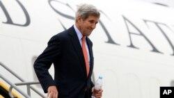 Menlu AS John Kerry berada di Wina, Austria untuk pembicaraan internasional mengenai Suriah (29/10).