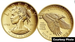 The $100 gold coin will be the first to feature and African-American woman. (US Mint)