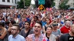 同性戀權益支持者慶祝美國最高法院的裁決