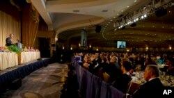 O jantar dos correspodentens da Casa Branca em 2014