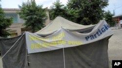 Brigada de Registo Eleitoral na província de Huambo