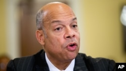 FILE - Homeland Security Secretary Jeh Johnson.