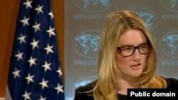 Marie Harf, porte-parole du département d'Etat américain