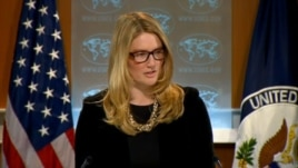 Deputy State Department Spokeswoman Marie Harf is seen at the August 28, 2013, daily briefing at the State Department in Washington, D.C.