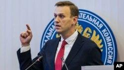 Алексей Навальный. Москва, Россия. 25 декабря 2017 г.