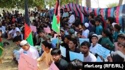 Afghanistan- Protest against Burma in Kandahar- 9-9-2017