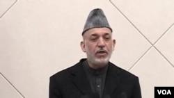 Presiden Karzai menyerukan ketenangan dalam pidato di televisi dengan makin maraknya protes anti pembakaran al-Quran di Afghanistan (26/2).