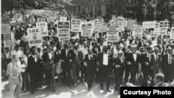 马丁•路德•金1963年领导的争取工作和自由大游行