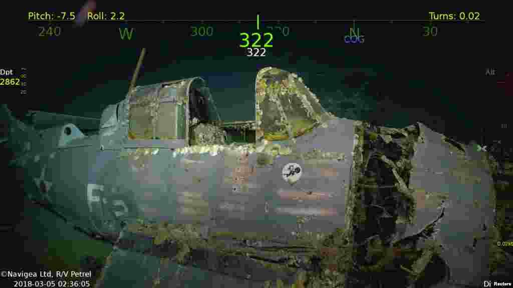 II Dünya Müharibəsi zamanı batan ABŞ Hərbi Hava Qüvvələrinin USS Lexington təyyarəsi