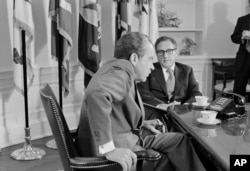 Richard Nixon with Henry Kissinger in 1973.