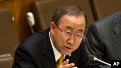 UN Secretary General Ban Ki-moon.