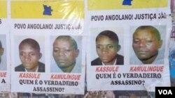 Angola Isaías cassule Alves Kamulingue poster de protesto