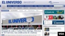 La primera plana de la mayoría de los medios ecuatorianos informan este jueves sobre el fallo de la justicia de ese país contra el diario El Universo.