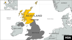 ផែនទីរដ្ឋស្កុតលែន (Scotland) និងចក្រភពអង់គ្លេស (United Kingdom)