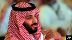 FILE - Saudi Crown Prince Mohammed bin Salman is pictured at an investment conference in Riyadh, Saudi Arabia, Oct. 24, 2018.