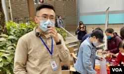 中西区区议员梁晃维表示,国安法实施后香港倒退到以言入罪,情况与中国无异。 (美国之音/汤慧芸)