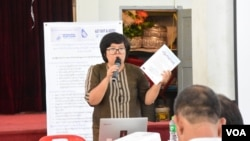New Myanmar Foundation ေရြးေကာက္ပြဲအၾကံေပး မျမနႏၵာသင္း။ (ဓာတ္ပံု - New Myanmar Foundation)