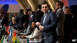 Le Premier ministre grec Aléxis Tsípras au Sommet UE-Afrique sur les migrations à Malte le 12 novembre 2015.
