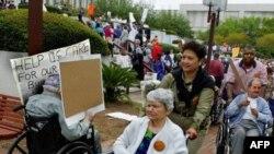 Демонстрация в защиту прав престарелых