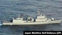 Hình ảnh cho thấy tàu chiến Hàn Quốc chặn radar trên máy bay trinh sát của Nhật vào ngày 21/12/2018.
