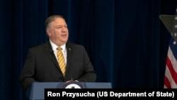 美國國務卿蓬佩奧星期三說,美國有可能進行軍事干預。