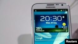 La tableta Samsung Galaxy Note II es presentada en 2012.