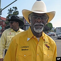 Wilbert McAlister, president of the Oakland Black Cowboy Association, says the term 'cowboy' was coined by plantation owners in the Old South before the Civil War.