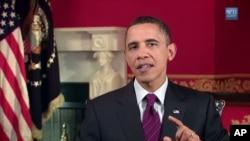 奧巴馬總統在星期六發表每週總統例行演說
