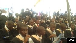 Some of the graduands facing an uncertain future after being capped by President Robert Mugabe.