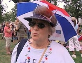 Janice Lippincot who attended the Beck Rally on the National Mall, 25 Aug 2010 is not critical of Islam