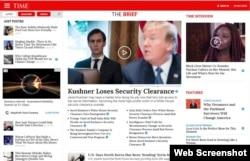 پایگاه اینترنتی مجله تایم، صبح روز چهارشنبه 28 فوریه 2018
