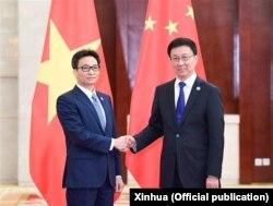Phó Thủ tướng Việt Nam Vũ Đức Đam gặp Phó Thủ tướng Trung Quốc Hàn Chính hôm 21/9/2019