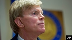 David Duke, ancien chef du Ku Klux Klan (KKK), à Baton Rouge, en Louisiane, le 22 juillet 2016. (AP Photo/Max Becherer)
