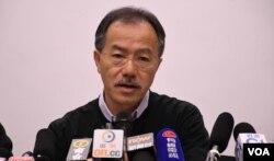 香港工党立法会议员张超雄 (美国之音/汤惠芸)