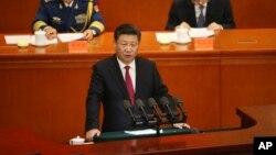 Chủ tịch Trung Quốc phát biểu tại lễ kỷ niệm 95 năm thành lập Đảng Cộng sản Trung Quốc tại Đại lễ đường Nhân dân ở Bắc Kinh, ngày 1/7/2016.