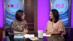 Nurviana Mubtadi (Left) and Ariadne Budianto on SH+E, a VOA Indonesian show profiling women and featuring stories on education, careers and lifestyle.