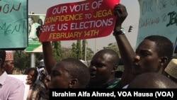 2015年2月5日尼日利亚人抗议延迟选举