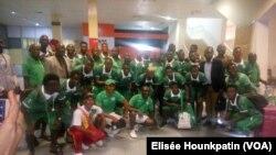 HafiaFootball Club de Conakry à Cotonou, Bénin, le 8 février 2018. (VOA/Elisée Hounkpatin)
