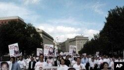 북한의 자유를 외치는 한인교회연합 (KCC) 횃불대회 행사 현장