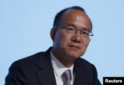 中国复星集团董事长和共同创始人郭广昌2015年5月28日在香港出席该财团的年度大会。