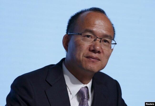 复星国际集团董事长郭广昌参加该财团在香港举行的年度大会(2015年5月28日)