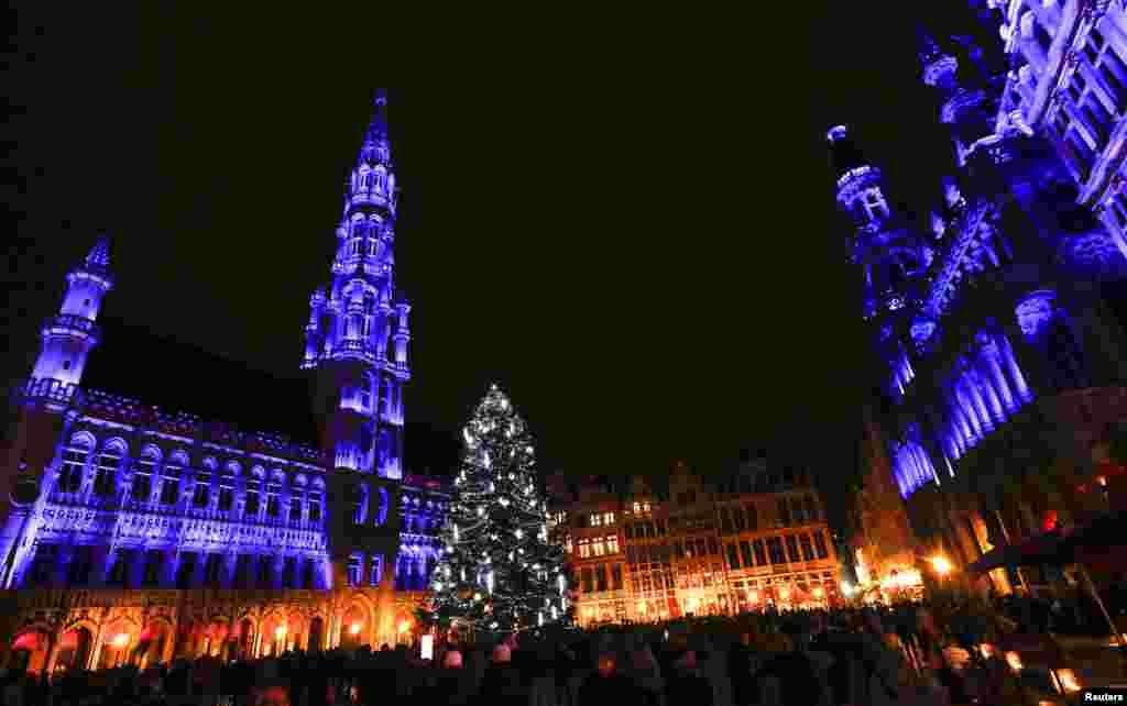 مراسم استقبال از زمستان و بازار کریسمس- بروکسل