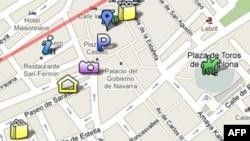 Bản đồ trên trang Google