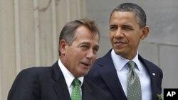 Tổng thống Hoa Kỳ Barack Obama và Chủ tịch Hạ viện John Boehner.