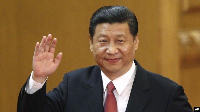 15일 중국 공산당 총서기로 공식 선임된 후, 베이징 인민대회당에서 시진핑 총서기.