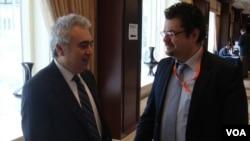 GMF tarafından düzenlenen Brüksel Forumu'na katılan Ulslararası Enerji Ajansı Baş Ekonomisti Fatih Birol (solda) ile görüştük.