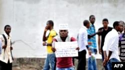 Des étudiants de l'université de Kinshasa, 20 novembre 2012.
