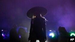 Beyoncé actuando en un mitin político de Hillary Clinton en Cleveland en noviembre del año pasado.