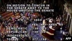 Rezultati glasanja u Predstavničkom domu, prikazani na televizijskoj kablovskoj mreži C-span